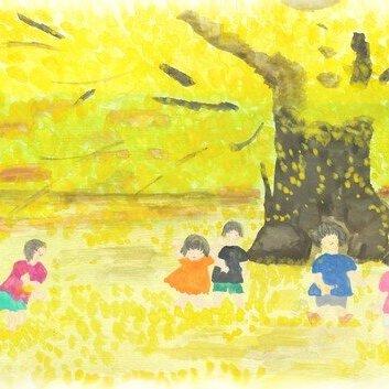 第36回子ども園で秋が教えるイチョウの影と時間井上 さく子