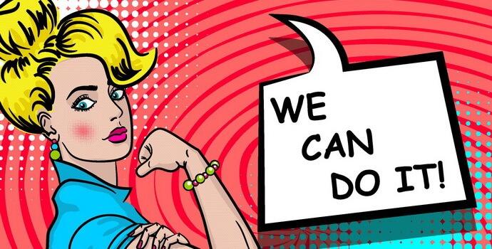 アメコミ風イラスト:WE CAN DO IT