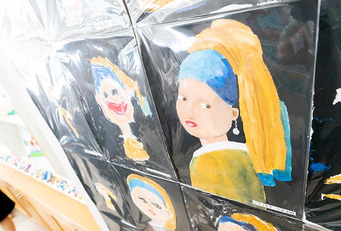 「真珠の耳飾りの少女」の模写展示会