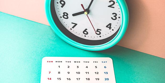 時計とカレンダー