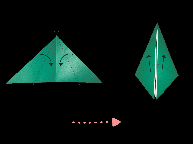 葉っぱの折り方02