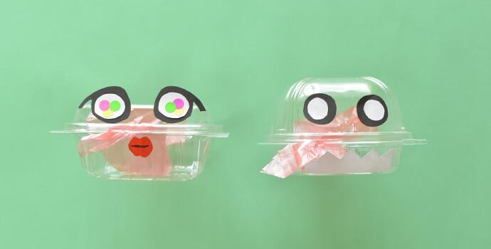 ぱくぱくロボットお口が開くプラ材工作